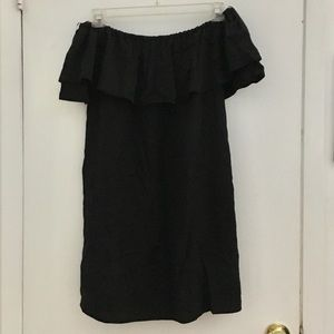 Zara black strapless shift dress